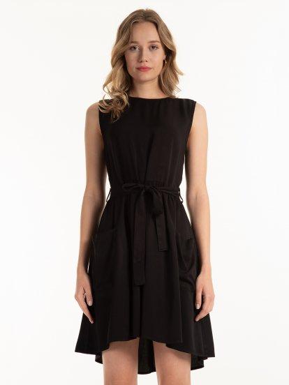 Viskózové šaty s kapsami
