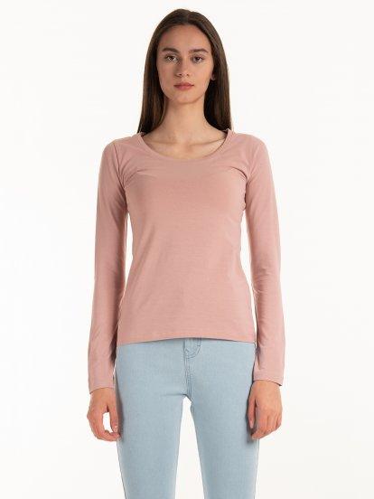Basic stretch long sleeve t-shirt