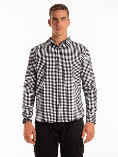 Bawełniana koszula w kratę slim fit