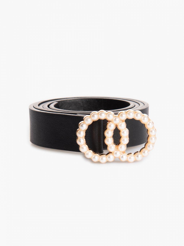 Pásek s přezkou s perlami