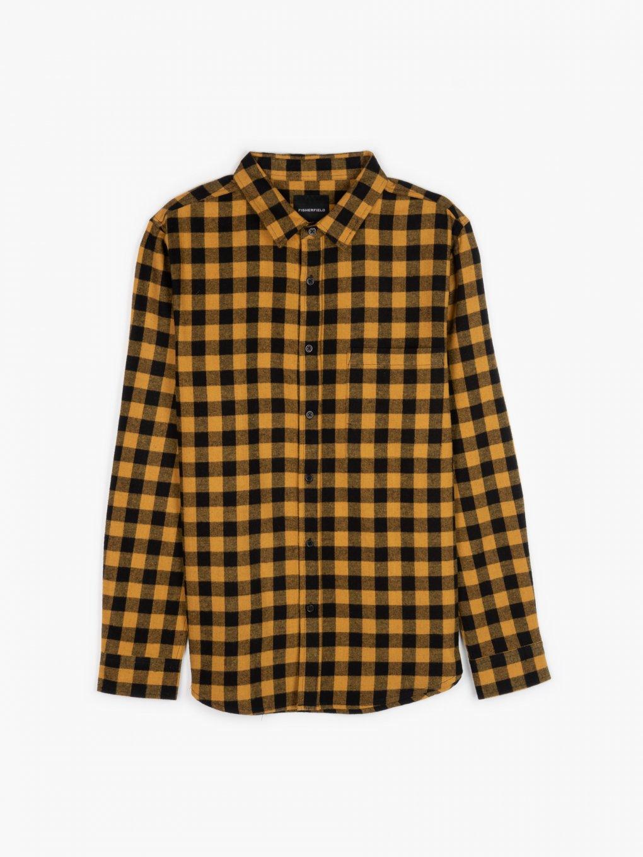 Bawełniana koszula w kratkę regular fit