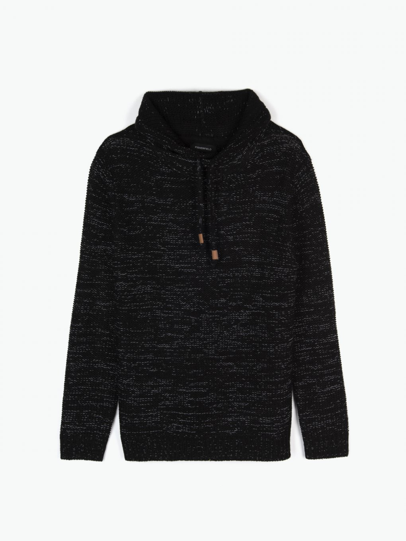 Melírovaný pulovr