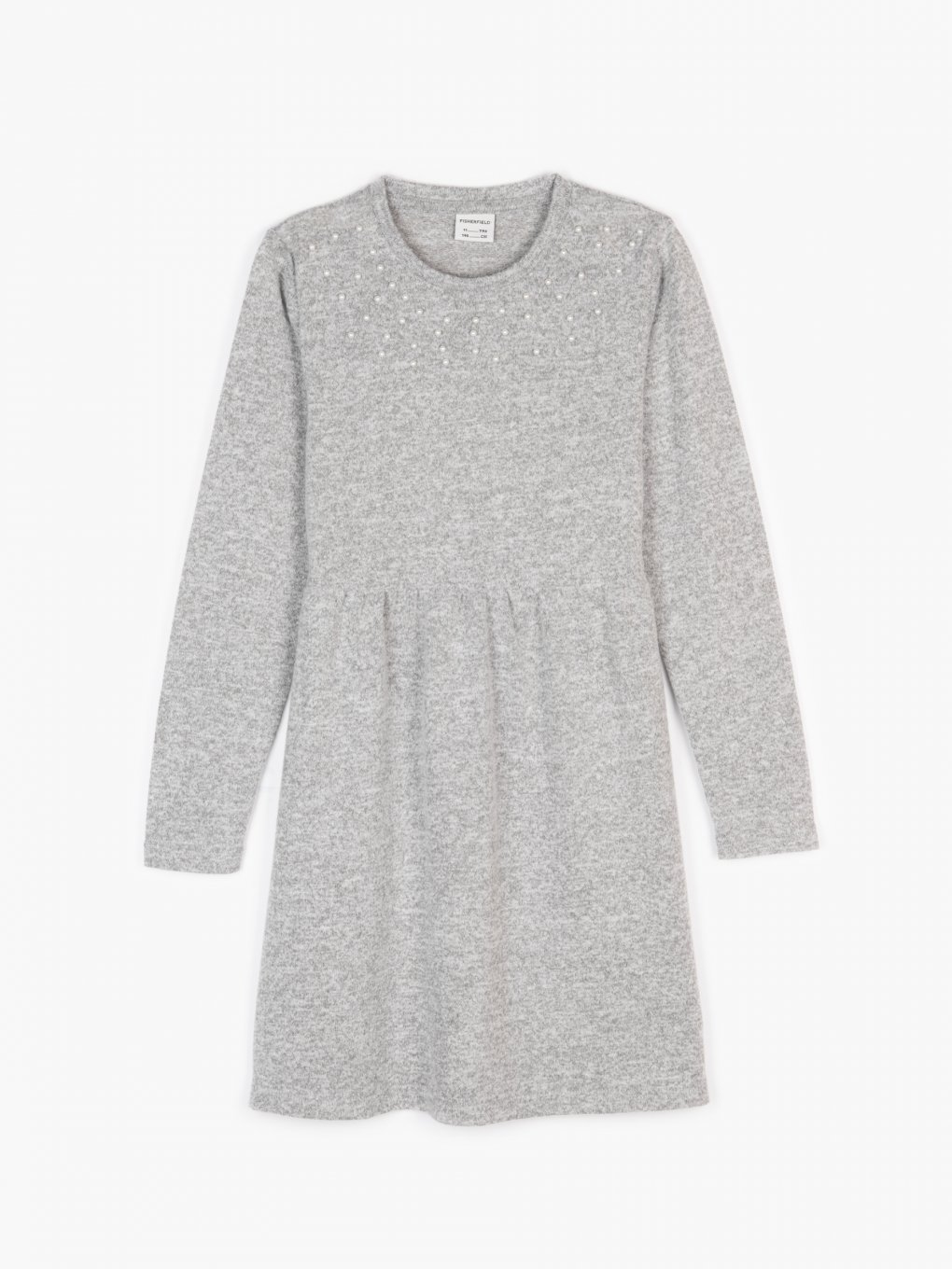 Fine knit dress with pearls