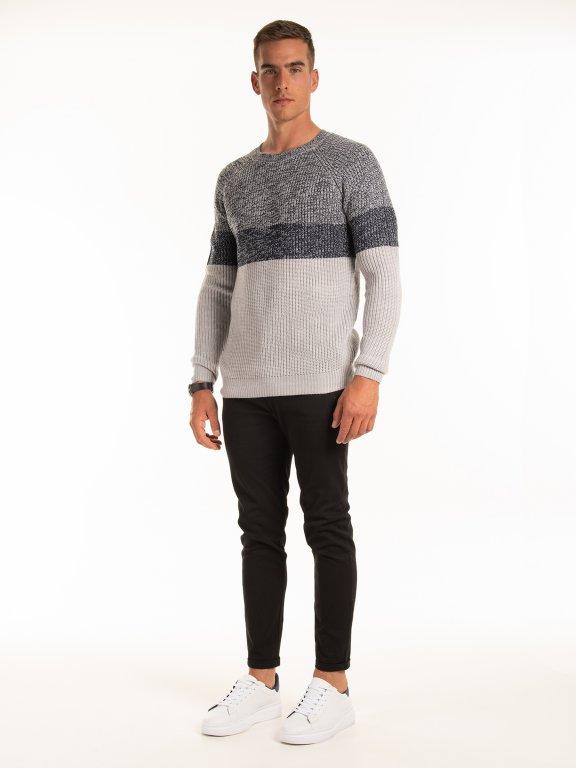 Pruhovaný pulóver