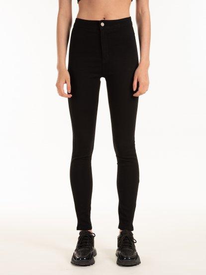 Základní džíny skinny s vysokým pasem