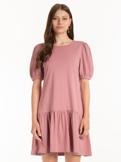 Basic ruffled dress