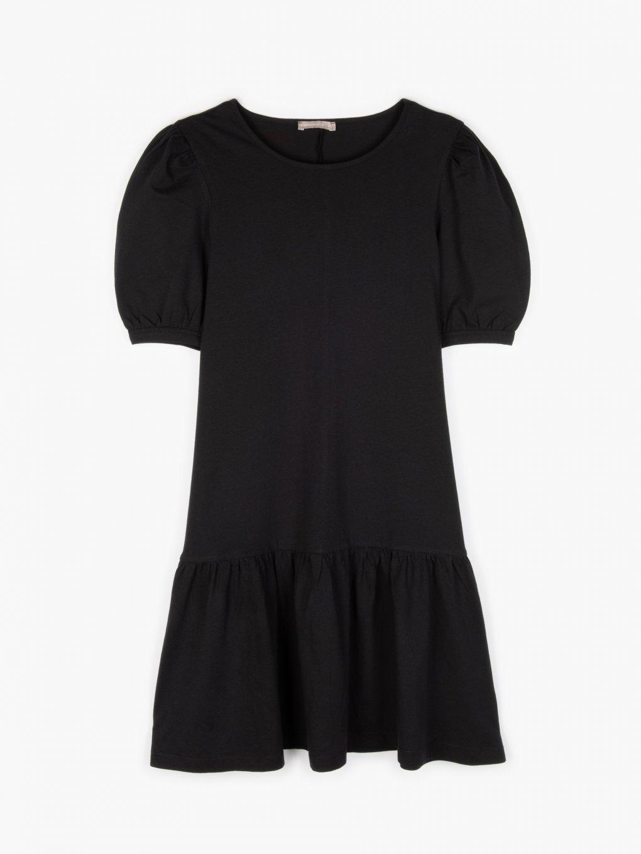 Sukienka basic z falbankami