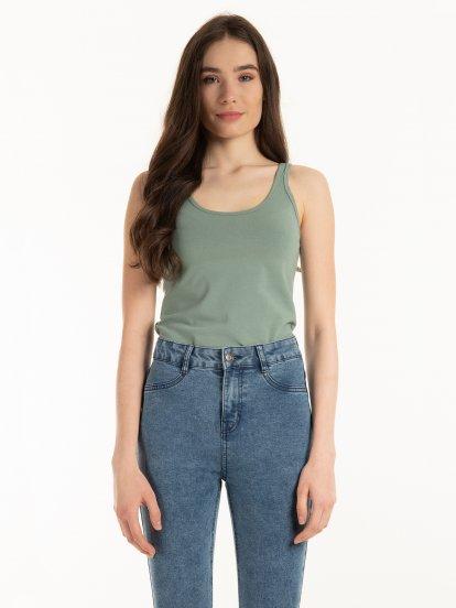 Koszulka typu basic ze stretchem