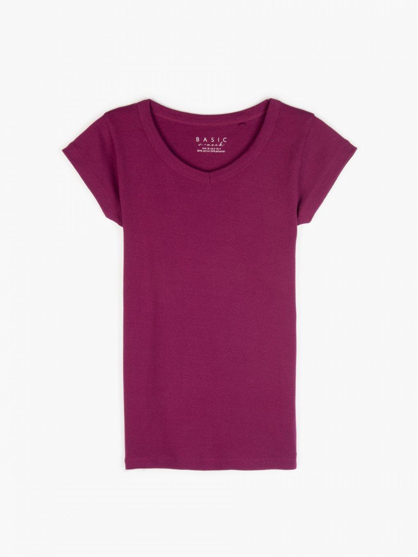 Základné tričko s véčkovým výstřihem