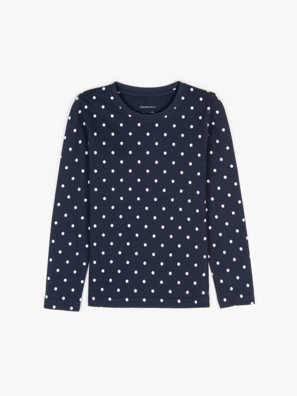 Bavlněné tričko s tečkovanou celopotiskem