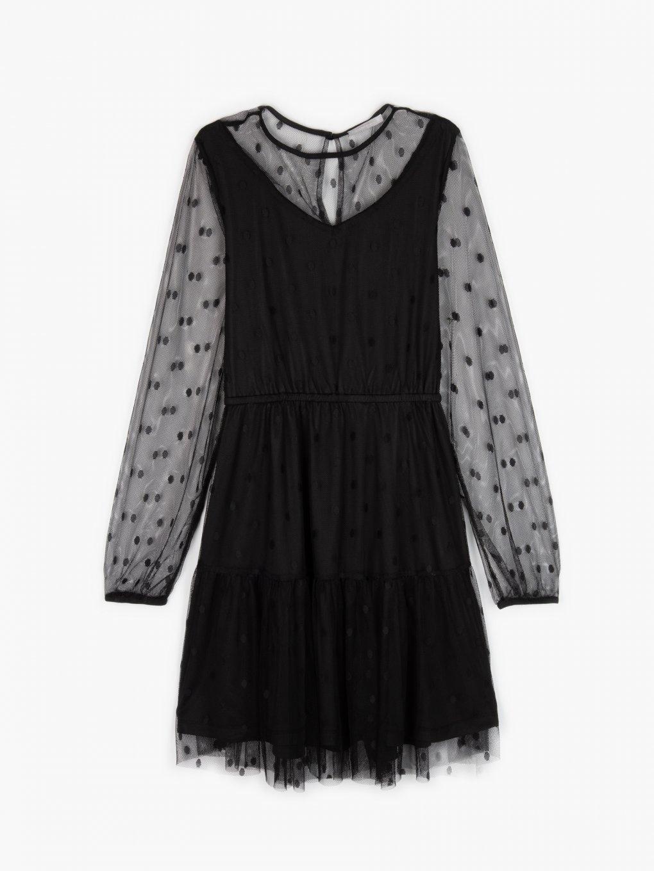 Bodkované šaty z tylu
