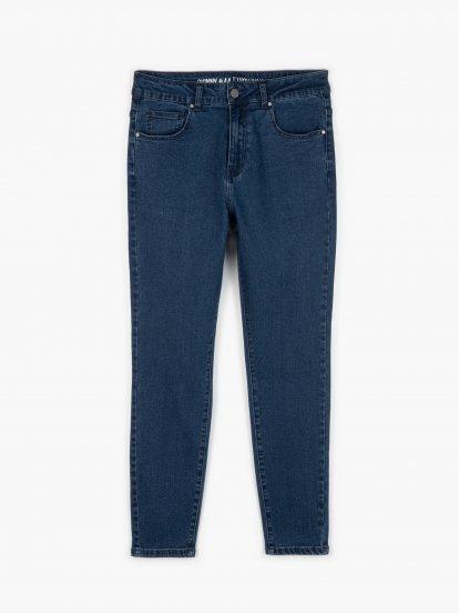 Skinny džíny s vysokým pasem
