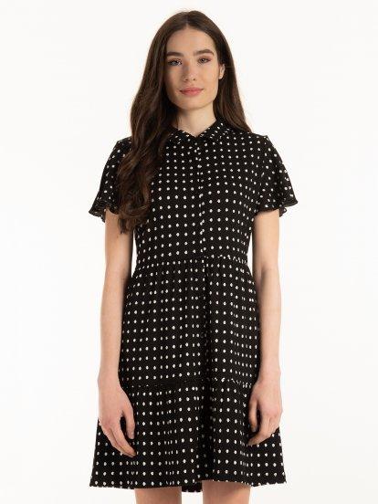 Guličkavé šaty s volánmi