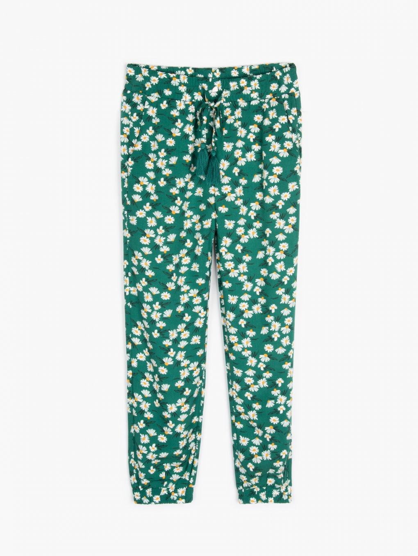Floral print harem pants