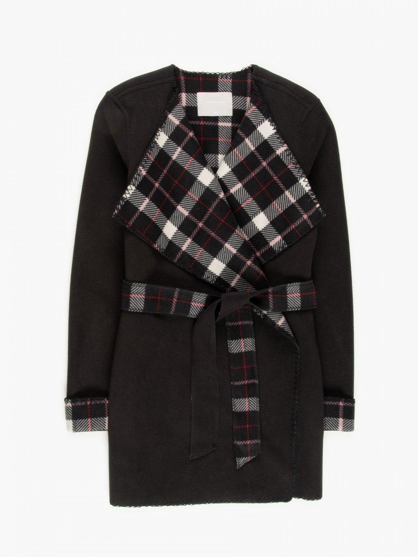 Coat with belt