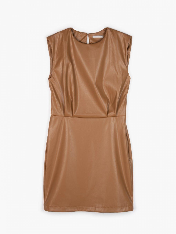 Koženkové mini šaty