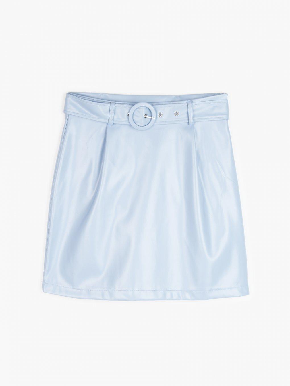 Mini skirt with belt