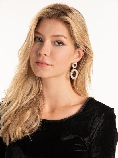 Faux pearls earrings