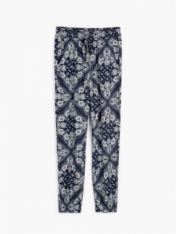 Spodnie harem z nadrukiem