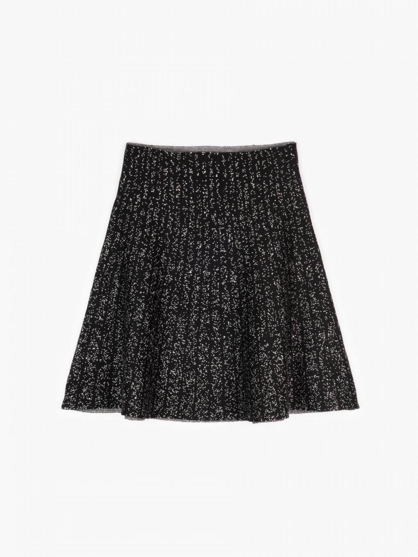 Knitted skater skirt