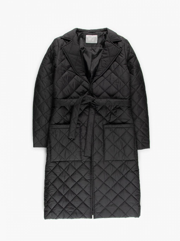 Prošívaný kabát s páskem