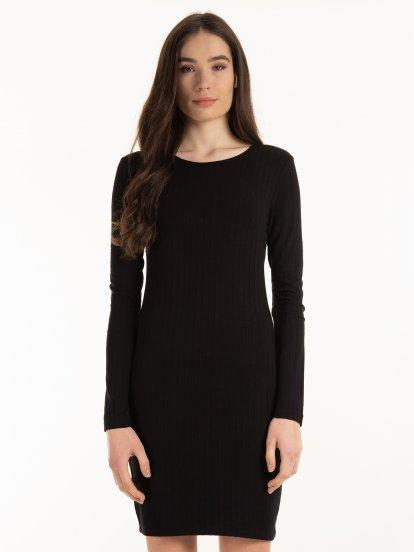 Rebrované obtiahnuté šaty