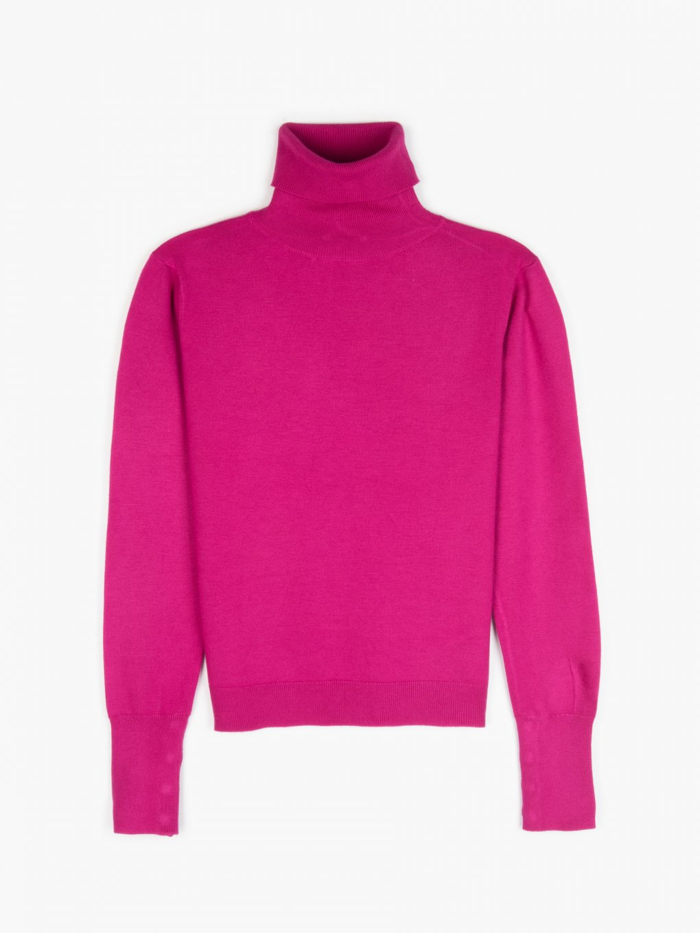 Rollneck sweater with buttons