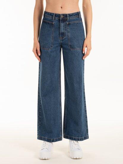 Szerokie dżinsy