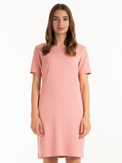 Základní tričkové šaty s kapsami