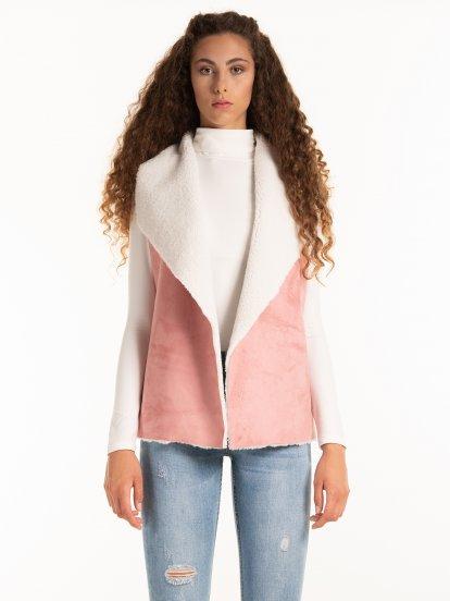 Pile lined combined vest