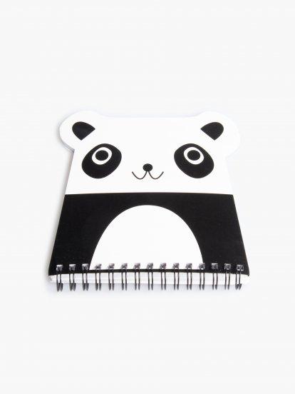 Zápisník v tvare pandy