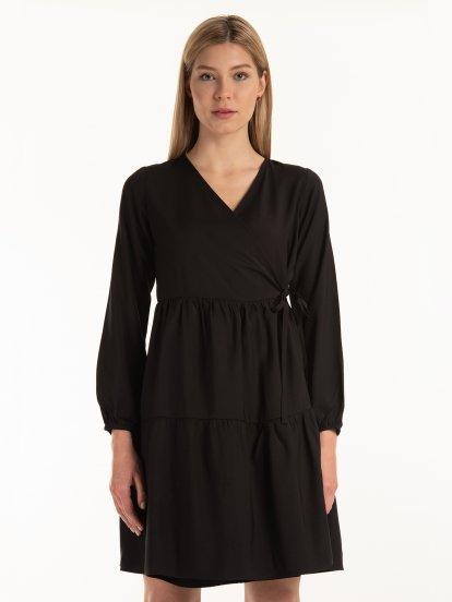 Wrapped ruffle dress