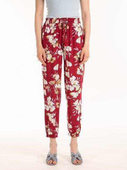 Spodnie w kwiatowy print