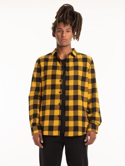 Károvaná flanelová košile slim fit