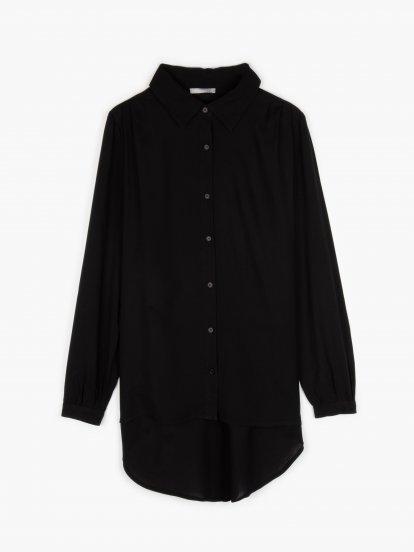 Plaid prolonged blouse