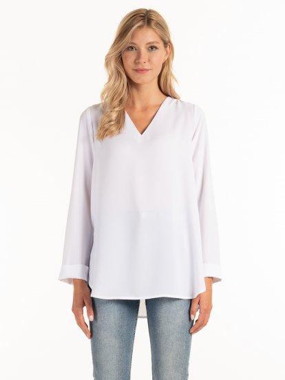Longline basic blouse