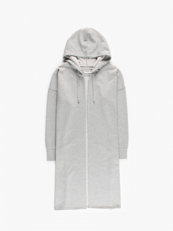 Longline hoodie with print