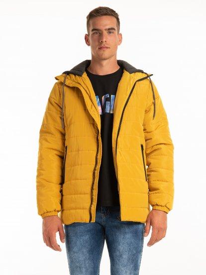 Prošívaná bunda s kapucí