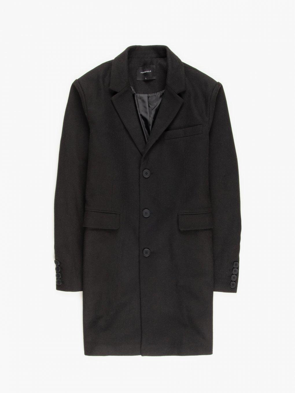 Rovný kabát z vlněné směsi