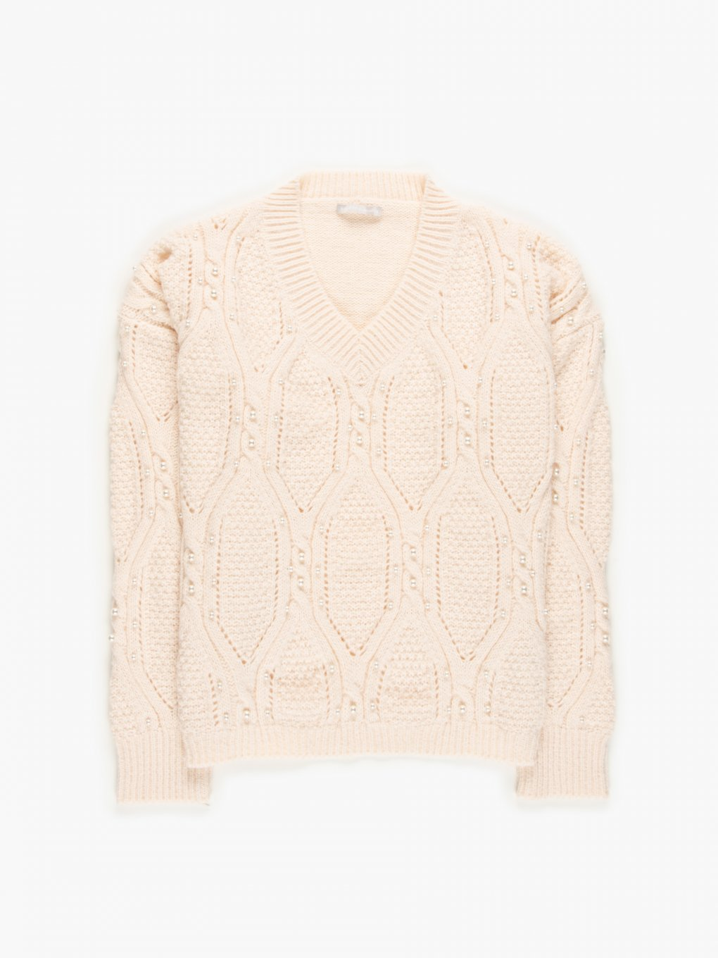 Jumper with pearls