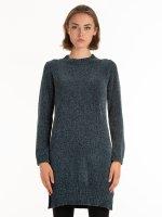 Szenilowy sweter