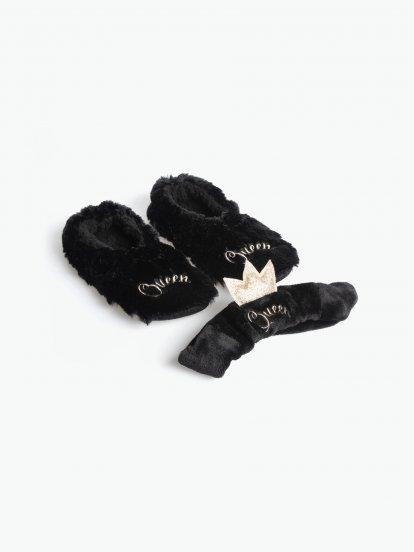 Darčekový set papuče a čelenka