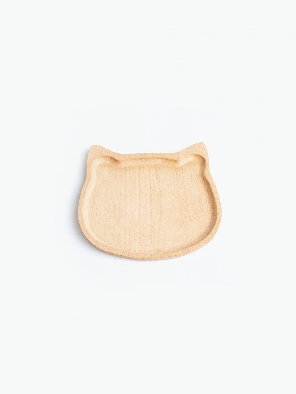 Wooden cat shape tray