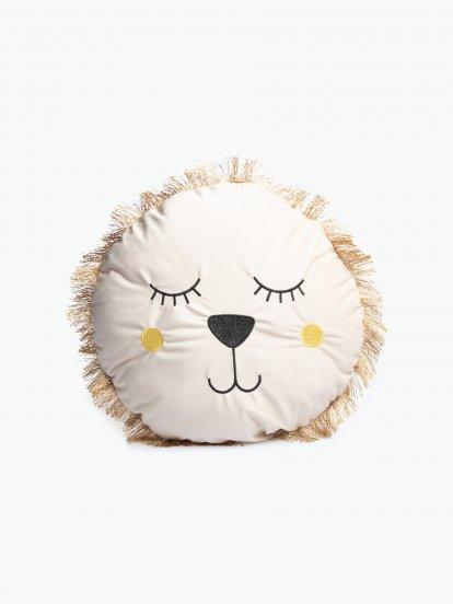 Round lion pillow
