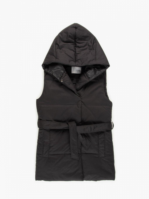 Quilted belted vest