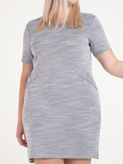 Rib knitted dress