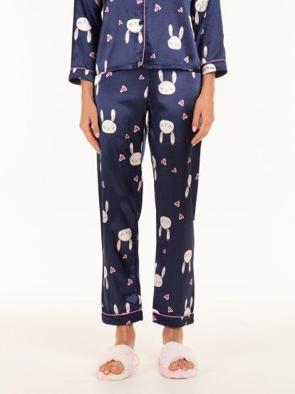 Saténové pyžamové kalhoty