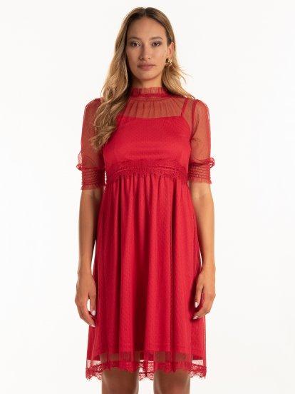 Šaty s krajkou