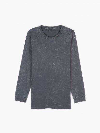 Acid wash slim fit t-shirt