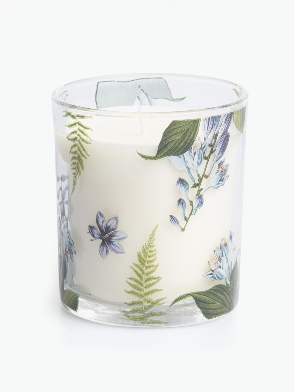 Violet and lilac blossom scented candle